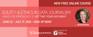 Equity and Ethics in Data Journalism MOOC Banner